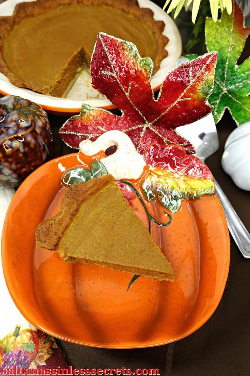 Festive fall spread featuring the traditional paleo pumpkin pie