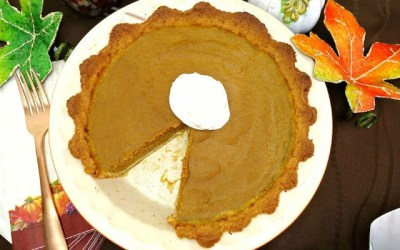 Traditional Paleo Pumpkin Pie {with Crust and Whipped Cream}