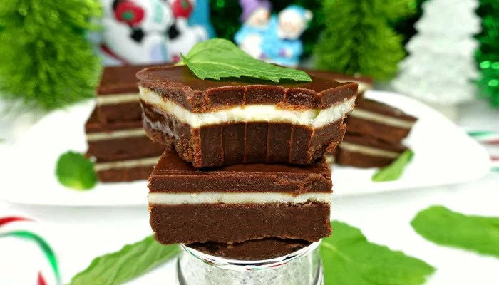 Dark Chocolate Peppermint Andes Mint Paleo Fudge