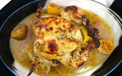 Lemon Lime Herb Paleo Oven Roasted Chicken