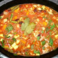 Gluten-Free and Vegan Slow-Cooker Minestrone Soup