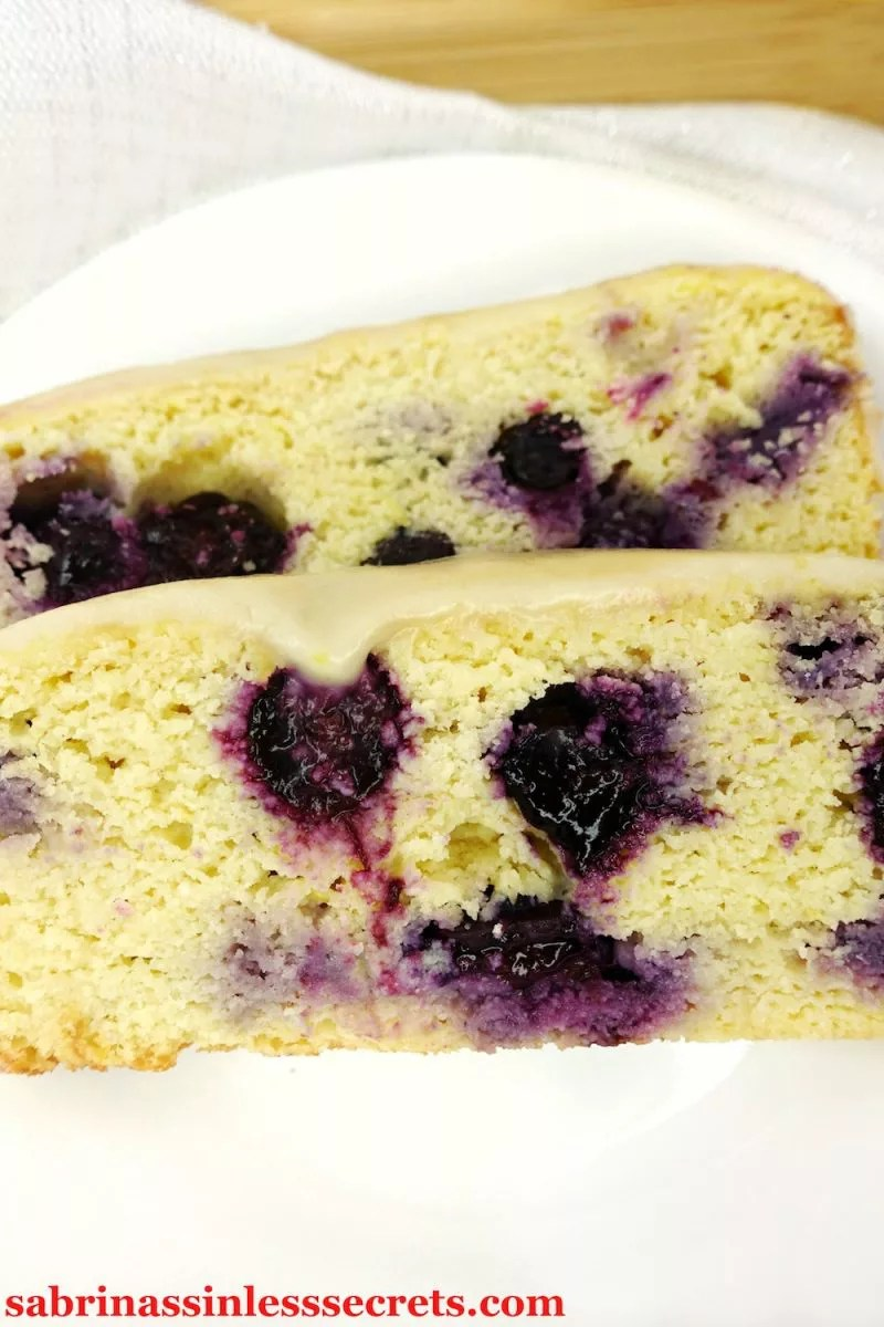 This Lemon Blueberry Paleo Pound Cake has a dense and velvety texture. Each sweet, lemony, blueberry-filled bite is more delicious than the last, especially when the lemon icing comes into play! You get all this in one Paleo, gluten-free, dairy-free, nut-free, refined sugar-free, grain-free, clean-eating package!