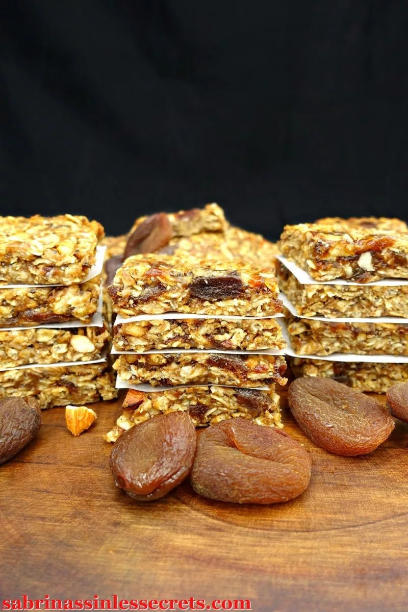 Chewy, soft, and deliciously sweet, these Gluten-Free and Vegan No-Bake Apricot Almond Granola Bars are a quick, easy, and satisfying snack or treat! You can even take them on the go for workouts or lunches. These granola bars are gluten-free, vegan, dairy-free, refined sugar-free, clean-eating, and totally suitable for anytime of the day!