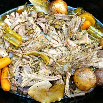 Paleo Slow Cooker Sirloin Tip Roast with Potatoes and Veggies