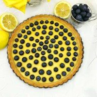 Paleo Lemon Blueberry Tart