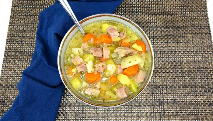 Paleo Slow-Cooker Potato Ham Soup