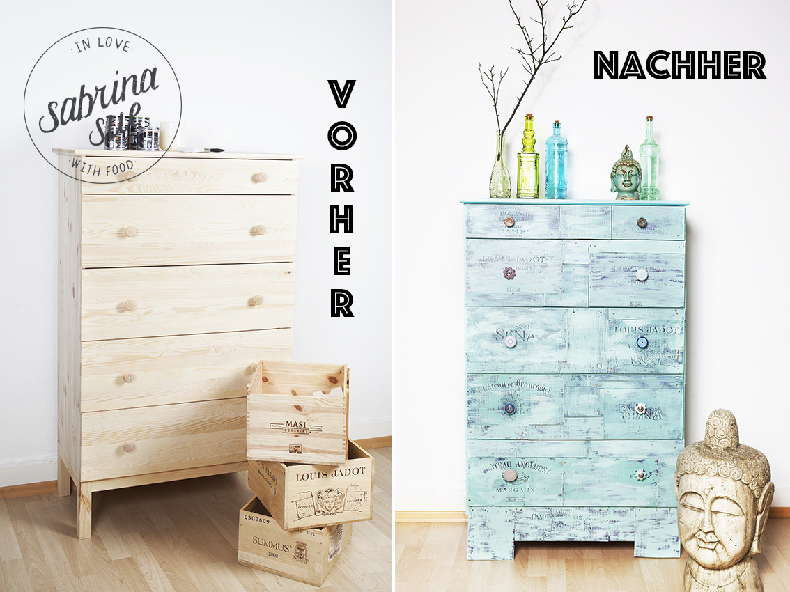 diy shabby chic vintage kommode sabrinasue in love with food. Black Bedroom Furniture Sets. Home Design Ideas