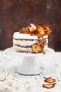 Beschwipste Birnen Kokos Torte & Sesam Mandel Krokant