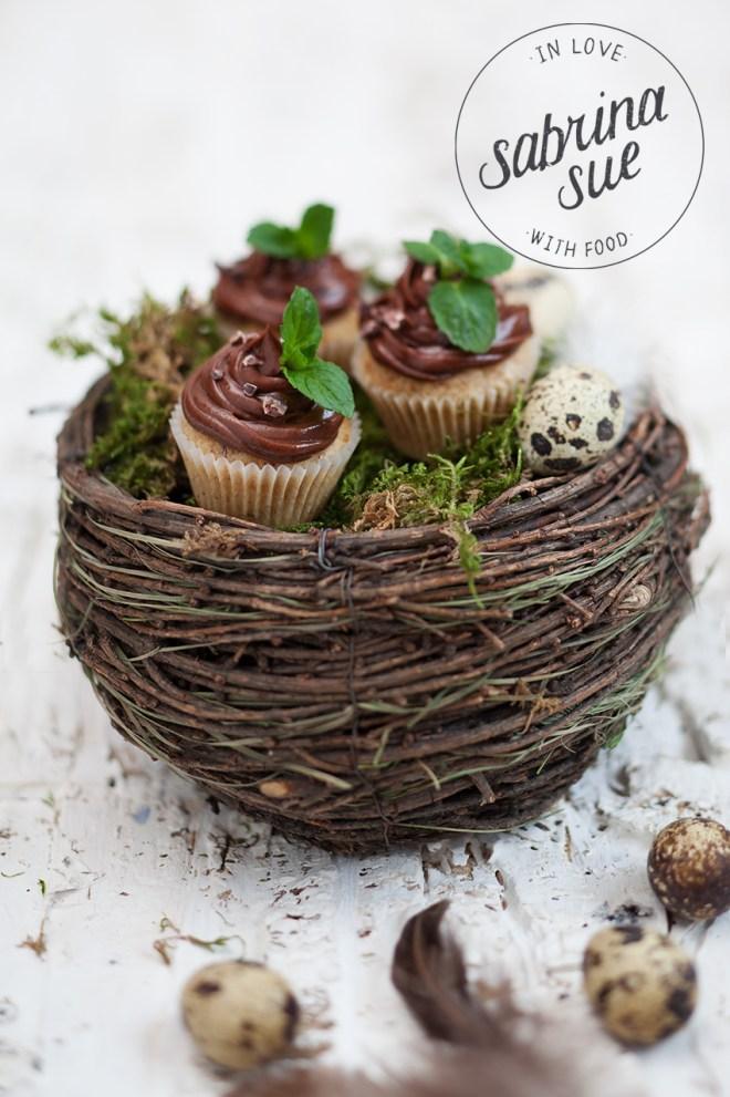 gluten freie Haselnuss Schokoladen Cupcakes
