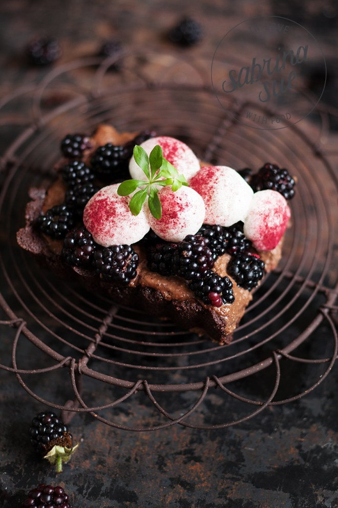 Blackberry Chocolate Mousse Tart