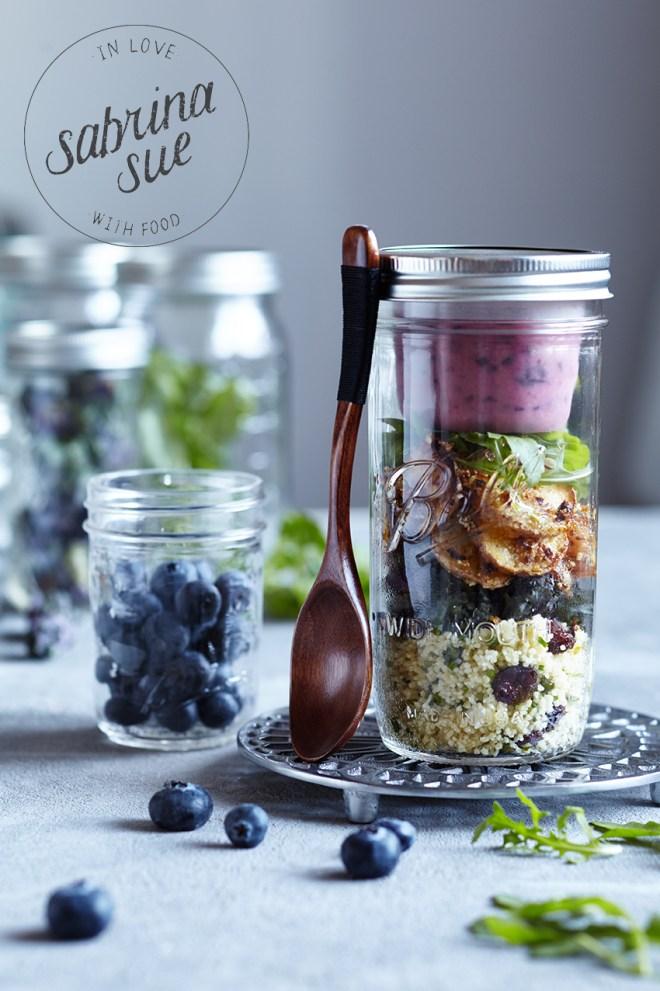 Mittagsglück im Glas-fruchtiger Wintersalat