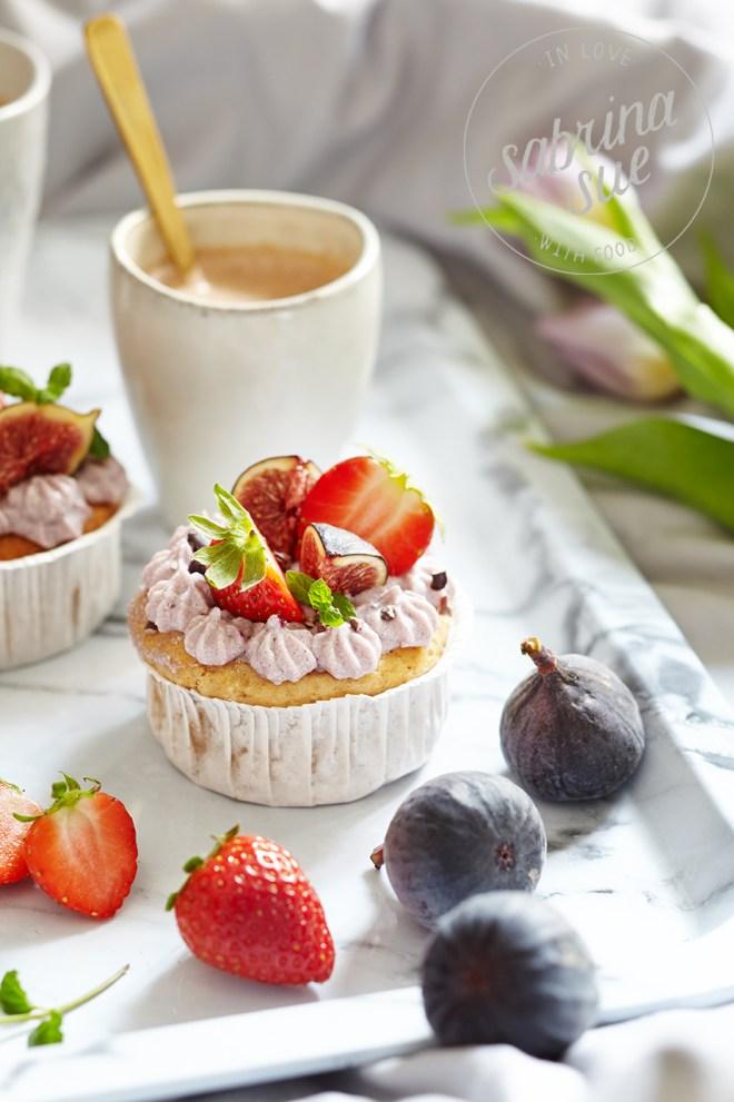 Strawberry Topinambur Cupcakes