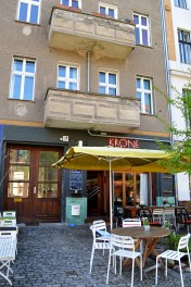 The cafe just outside the apartment. Cafe Krone