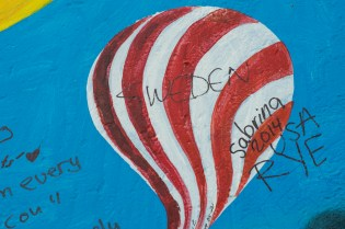 Wrote on the Berlin wall