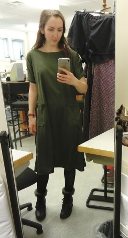 Viking dress on me (two sizes too big)