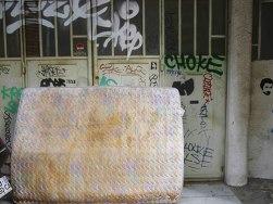 Matelas abandonné, rue de la Viabert, Lyon