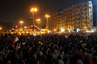 People gathered in tahrir square asking Morsi to leave