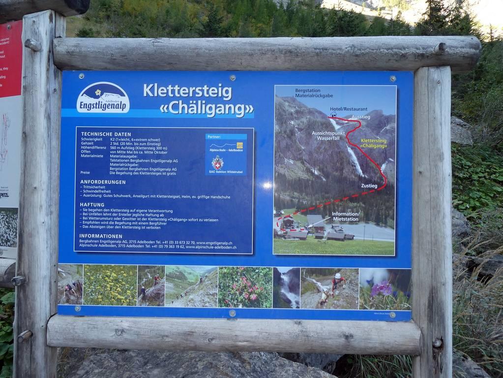 Klettersteig Adelboden : Klettersteig chäligang sac homberg
