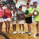 Kathy Yamamoto and her parner Lori Tokutomi take first place in Pleasanton
