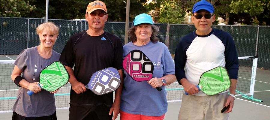 Evening Pickleball Players
