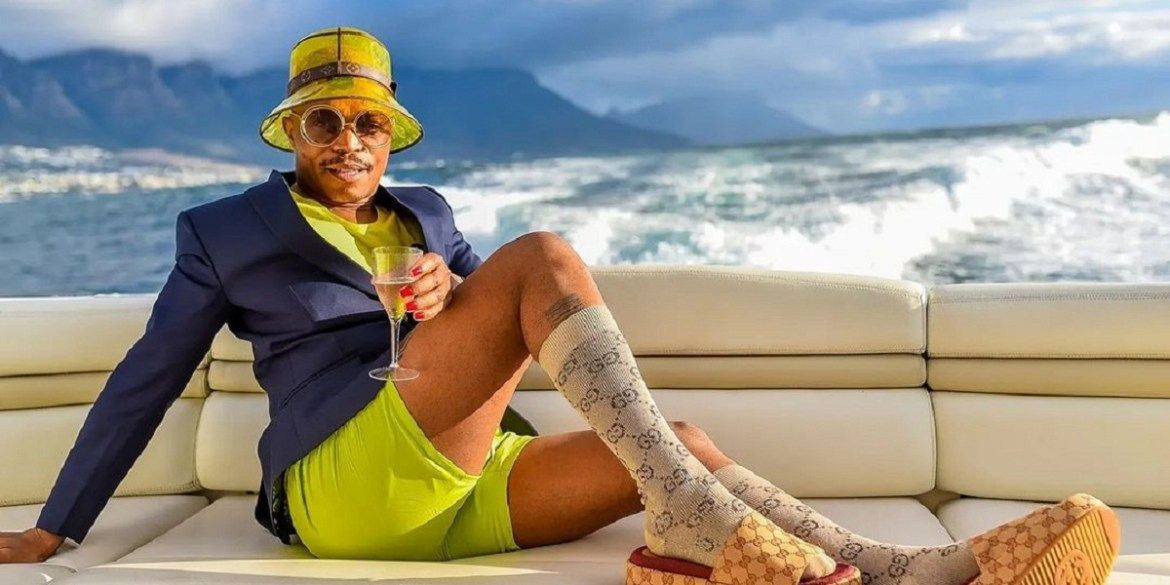 Somizi has found himself trending after a blood-spattered image of Boity Thulo