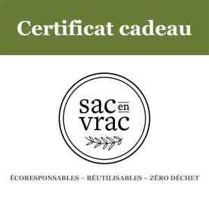 Certificat cadeau - Sac en Vrac