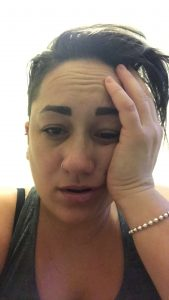 Image of a depressed looking Sacha Black