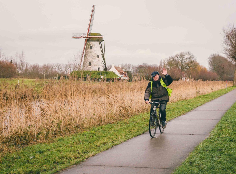 Brugge fotografie fietsroute molen Damme Sacha Jennis in opdracht Le Monde