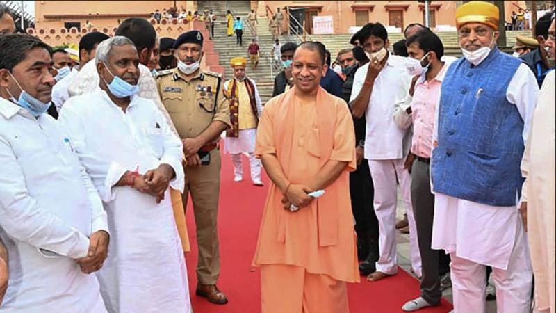 up cm yogi-adityanath janmashtami-in-mathura