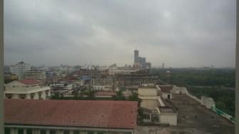 View of Kolkata outside the room