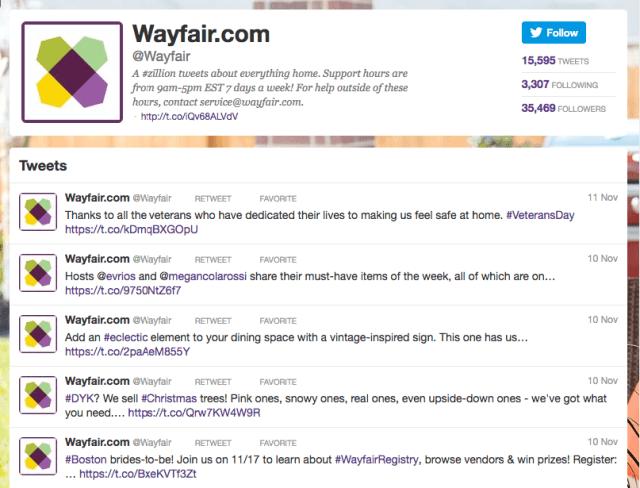 Wayfair Twitter