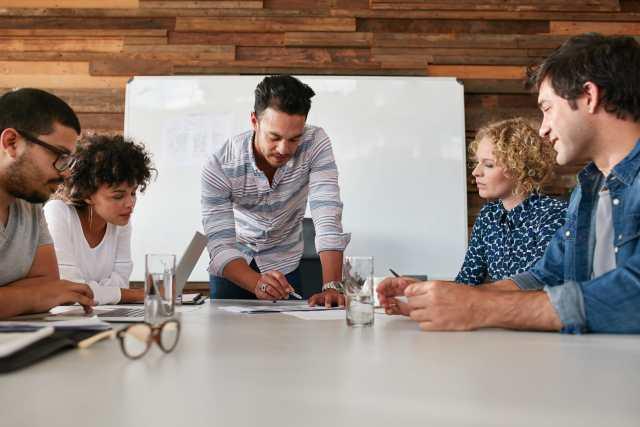 creative team discussion