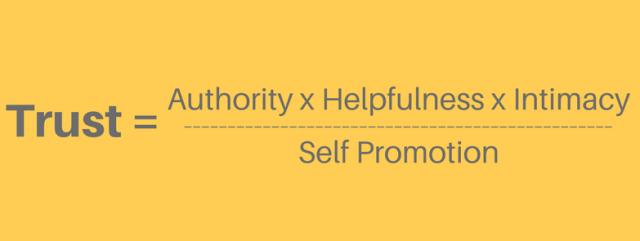 trust formula for social media