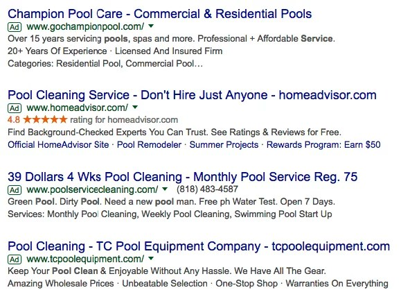 pool cleaning google search