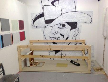 "Ryan Ward, ""Lights Behind Rushmore"", Mixed Media Installation, 15'x12'x10'"
