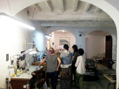 Jewelry studio of Laura and Martina in the Oltr'Arno area of Florence