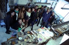 SACI Sculpture fieldtrip Fall 2014 to the Mosaic Cooperative Studio