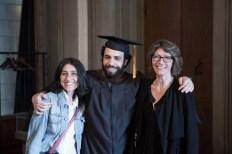 MFA in Studio Art instructors, Daria Filardo and Karen Yurkovich with Horazio Lizardo Jr.