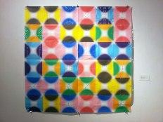 "Deborah Zlotsky, ""Sieve,"" Origami paper, tape, 2015"