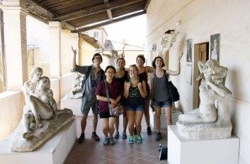 SACI scultpure class field trip to Carrara and Pietrasanta, Summer 2015