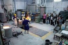 SACI sculpture students visiting the Mariani Foundry of Carrara