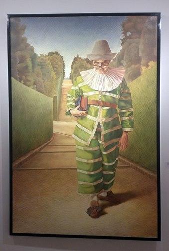 """Gregory Blanche, """"Tartaglia,"""" oil on canvas, 150 x 100 cm, 1995"""