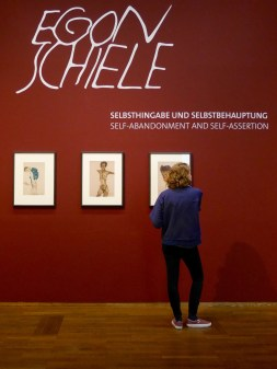 SACI student at the Egon Schiele exhibit, Leopold Museum, Vienna