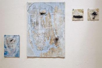 """Keri Rosebraugh, """"Maps,"""" mixed media, 2016"""