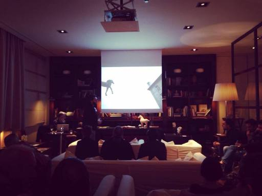 Jacopo Santini presenting at the Leica Lounge, Florence