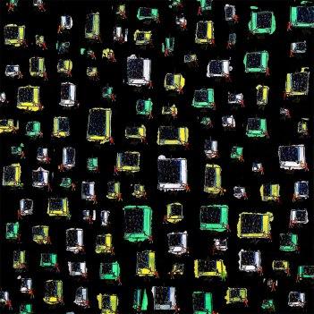 """Filipe Rocha da Silva, """"Auto-Retrato,"""" Óleo sobre Tela, 120x120 cm, 2001"""