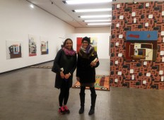 Alexandra Wong and Mayra Vega at the Natalie du Pasquier exhibition at Kunsthalle Wien