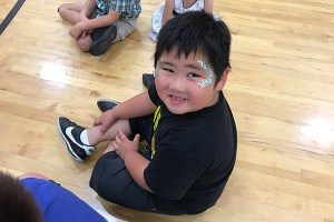 Boy with face paint