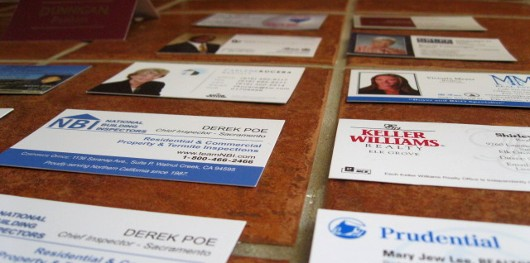 What do business cards on the counter tell us about the real estate in reheart Choice Image