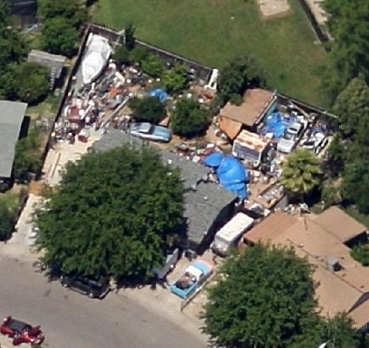 Debris in Back Yard